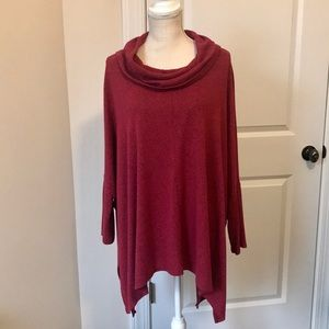 Oversized Tunic with Loose Cowl Neck